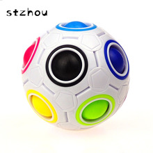 StZhou Novelty Rainbow Football Puzzle Spherical Magic Cube Toys Learning & Educational Toys For Children Kids Adult(China)