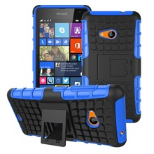 Rugged Spider Armor Heavy Duty Hybrid TPU Stand Impact Hard Case For Microsoft Nokia Lumia 535 Anti-knock Cover Cell Phone Case