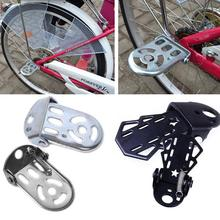 1 Pair Motorcycle Bike Metal Rear Pedals Folding Footrests Cycling Foot Pegs  Mountain Bicycle Road Bike Rear Foot Pedal