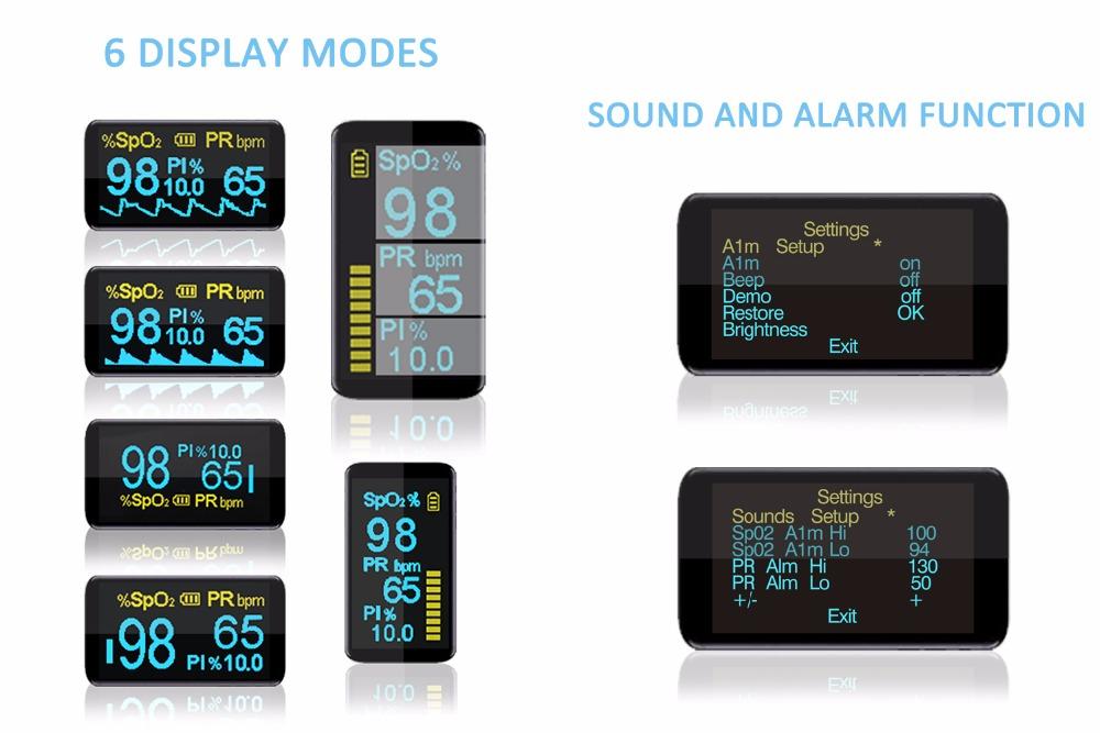 Household Health Monitors Finger Pulse Oximeter ABS Silicone Sensor Equipment Pulsioximetro OLED SPO2 Heart Rate Monitor-NEW 5