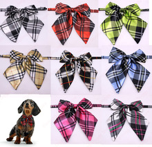 30pcs Pet Dog Bowties Adjustable Mixed Plaid Patterns Bow ties Man Women Bow tie Neckties Pet Suppliers(China)