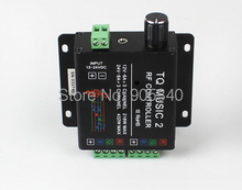 DC12V/24V 18A RGB Music Controller RF Remote Intelligent Sonic Sensitivity Led Backlight Remote free shipping(China)