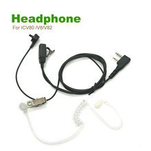 2 Pin Interface For ICV80 /V8/V82 ICOM Air Duct Headphone Black