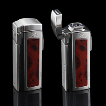 LUBINSKI High-end Multifunctional Cigar Lighter Large Table 4 Torch Jet Lighter Windproof Cigarettte Lighters With Punch Scissor(China)