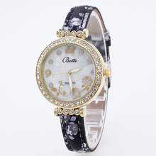 New ybotti Brand Gold Small Dial Flower Casual Quartz Watch Women Crystal Silicone Strap Dress Watches Relogio Feminino Clock