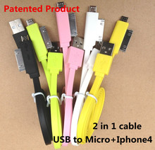 Car Charge micro I4 4S usb mobile charging cable, TPE jacket, Factory direct sales,patented product