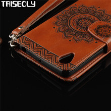 TRISEOLY Embossed Pattern Flip Leather Stand Phone Cover With Card Holder Case For Sony Xperia X Performance XP F8131(China)