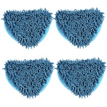 4pcs Blue Big size microfiber cloth cleaning for Floor Cover for H2O Mop X5 /Vax X2 /Bionaire Steam Mop Household Cleaning Tools(China)