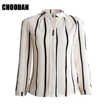 Nine Quarter Sleeve Blouse Shirt Women Clothes 2017 Autumn Korean Style Flower/Striped/Plaid/Arrow Printed Chiffon Tops Female