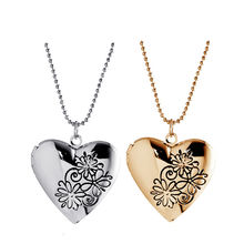 2016 MIss You Special Open Romantic Rose Heart Pendants Fashion Vintage Crystal Necklaces Valentine's Day Best Gift  A76