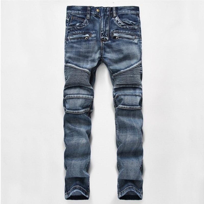 2017 fashion biker jeans European and American style jeans men High quality young people Wrinkled Slim jeans hommes pantsÎäåæäà è àêñåññóàðû<br><br>