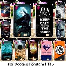 TAOYUNXI Silicone Phone Cover Case Doogee Homtom HT16 HT 16 5.0 inch Cover Soft TPU Batman Superman Captain American Case