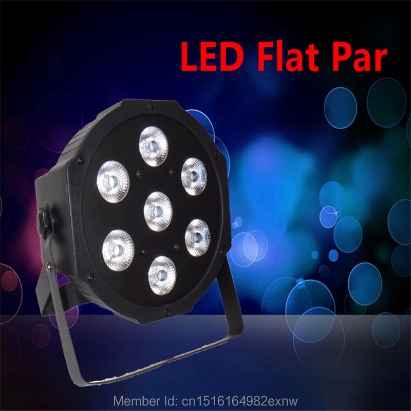 Fast Shipping LED Par Can Wash Light RGBW Color Mixing SlimPar Quad 7x12W With 8 Channels DJ Equipments Without The Fans<br>