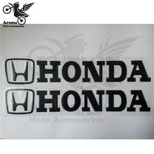 free shipping carbon fibre colofu motorcycle sticker for honda logo graphic professional strip motorbike decal black pro scooter