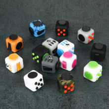 Fidget Cube Desk EDC Toys Magic Cubes Puzzle Relieve Stress Toys ABS Material VS Fidget Pad Spin Gifts for Autism ADHD Kids