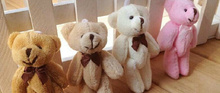 Little Kawaii 8CM Joint Bowtie Teddy Bear Plush TOY DOLL ; Stuffed TOY Wedding Gift Bouquet Decor DOLL TOY(China)