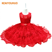 2017 New Children Christmas Dresses For Girls Wedding Party Baby Girl Kids Prom Gown Dress Teenager 2-12 years Girl Clothes red