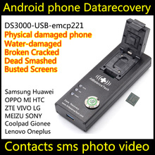 Data recovery Dead android phone DS3000-USB3.0-emcp221 tool ZOPO Recover Retrieve contacts SMS Broken Damaged