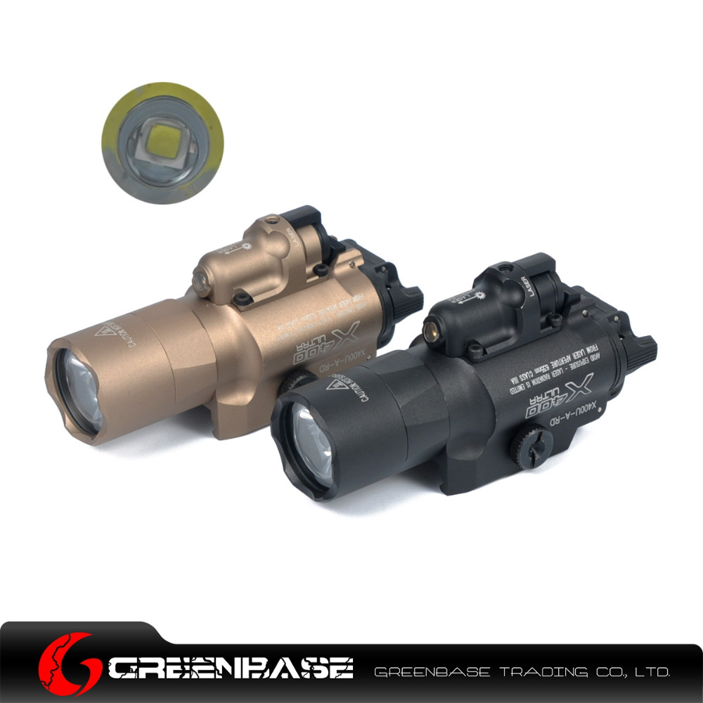 Greenbase SF X400U Weapon Light Tactical  Flashlight With Red Laser Sight For Rifle scope For Pistol Black Dark Earth<br><br>Aliexpress