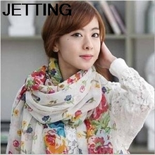 fashion women pastoral floral scarf shawl scarf summer scarf flowers blooming sun beach towel