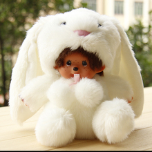 Cute 20cm monchhichi plush dolls monchichi monkiki change to animals doll toy for children rabbit bunny, Monsters, stitch, minni