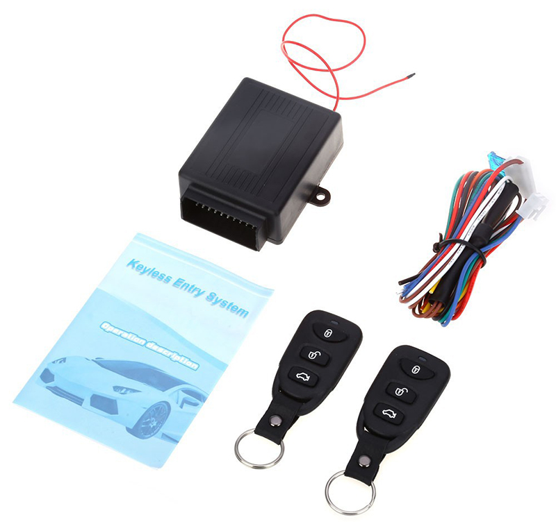 Universal Alarm Systems Car Auto Remote Central Kit Door Lock Locking Vehicle Keyless Entry System New With Remote Controllers(China)