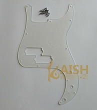 KAISH Transparent P Bass Pickguard Clear PB Scratch Plate w/ screw for Precision Bass