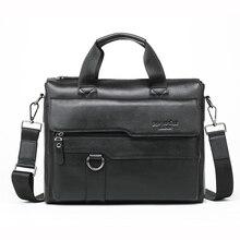 MEIGARDASS Genuine Leather Bags Men's Handbags Fashion male business briefcase Messenger bag Large Capacity Men Laptop Bag