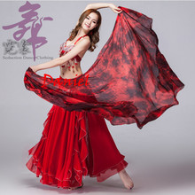 100% Silk Stage Performance Dancewear Accessories Tie Dye Light Texture Veil Shawls Women Scarf Costumes Belly Dance Veils