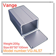 5pcs/lot customized aluminum box electronic diy 6063-T5 aluminum enclosure 65*50*100mm for router project(China)