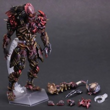 27cm Predator Figure Alien Hunter Primevil Play Arts Kai PVC Action Figure Toys Collectors Model With Box