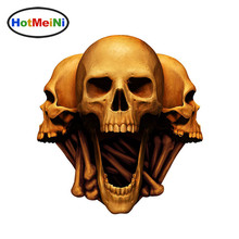 13*15cm Car Styling Skull Head Sticker Car Stickers for Helmet Gas Bumper Scooter Bike Board Motorcycle Decals Car Accessories(China)