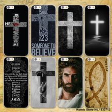 Bible Jesus Christ Christian Cross design transparent clear Case Cover for Apple iPhone 6 6s Plus 7 7Plus SE 5s 5 4s(China)