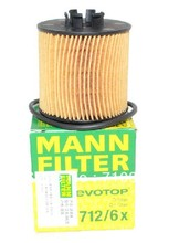 Hot sales, free shipping fee MANN oil filter HU712/6X for VW