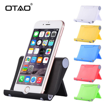 OTAO Universal Desk Phone Holder Stand Flexible Folding Mobile Phone Holder For iPhone For Samsung For MP5 Smart Phone Stand(China)