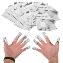 100pcs Aluminium Foil Nail Art Soak Off Acrylic Gel Polish Nail Removal Wraps Remover Nail Gel Cleaner Remover Makeup Tool