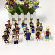 30 pcs a pack.randomly soccer football players action figures.Small figures model toys for kids.best gift w003.(China)