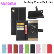 PU Leather Case for Sony Xperia XA1 Ultra Phone Cover with Stand Card Holder Wallet Flip Cover for Sony Xperia XA1 Ultra Case(China)