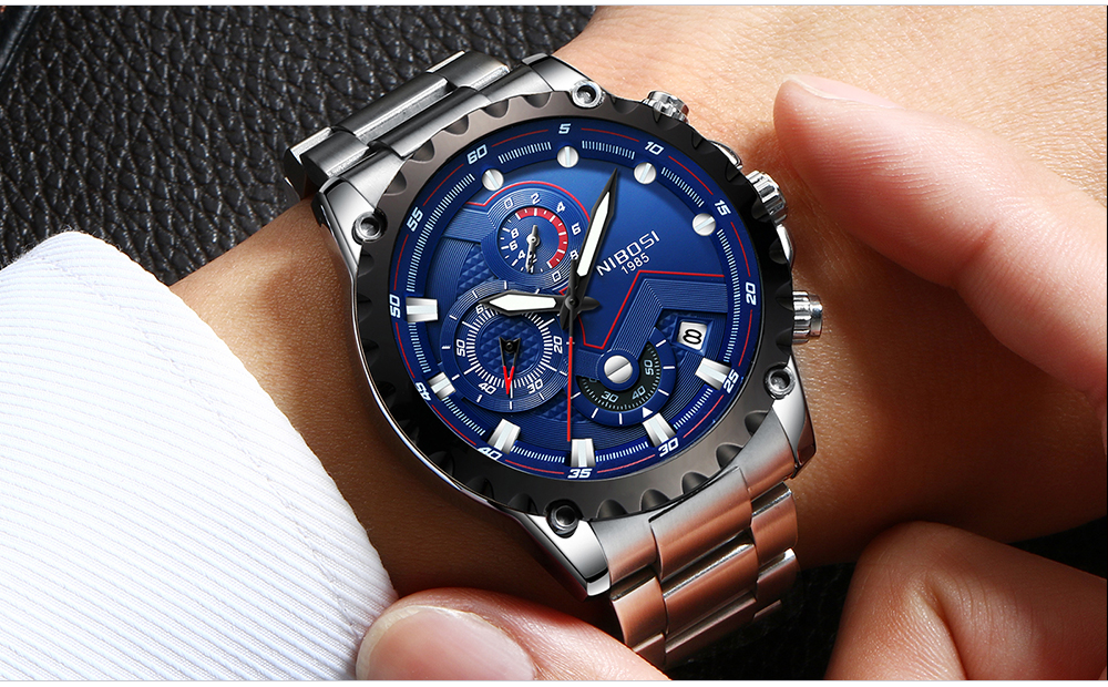 Military Watches Men Quartz Analog Men Watches Stainless Steel Time Date Clock Men Luxury Brand Hot Famous Brand Watches NIBOSI  (17)