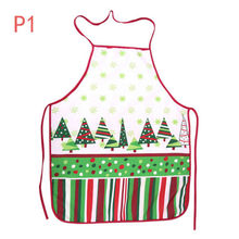 1pcs New Christmas Aprons Adult Santa Claus Aprons Kitchen Cleaning Women and Men Dinner Party Apron Kitchen Gadgets(China)