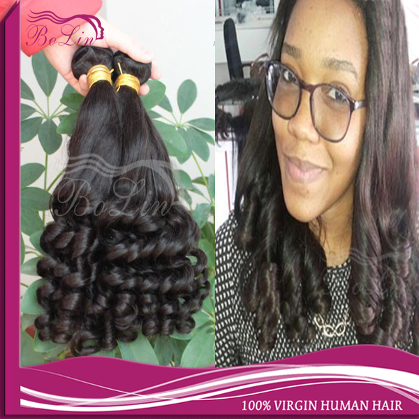 Virgin Peruvian Bouncy Curl Aunty Curly Hair Weave Cheap 6A Egg Curl virgin Bouncy Curly Hair Bundles 8-30Inch Romance Hair 3pcs<br><br>Aliexpress