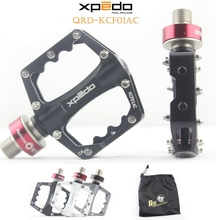Wellgo Xpedo KCF01AC Ultralight Bicycle Pedals Quick Release Cycling Aluminum Alloy Road Bike Pedals Mountain Bike Bearing Pedal