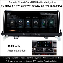 "10.25""Touch Android Car Radio Stereo for BMW X5 E70 (2007-2013)/BMW X6 E71 (2007-2014) Intelligence Car GPS Multimedia Player(China)"