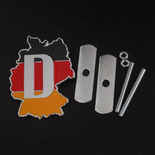 Metal car styling Front Hood Grille Grill Germany German Flag Badge Emblem for BMW e36 x5 x6 VW volkswagen golf jetta Audi a4 a6