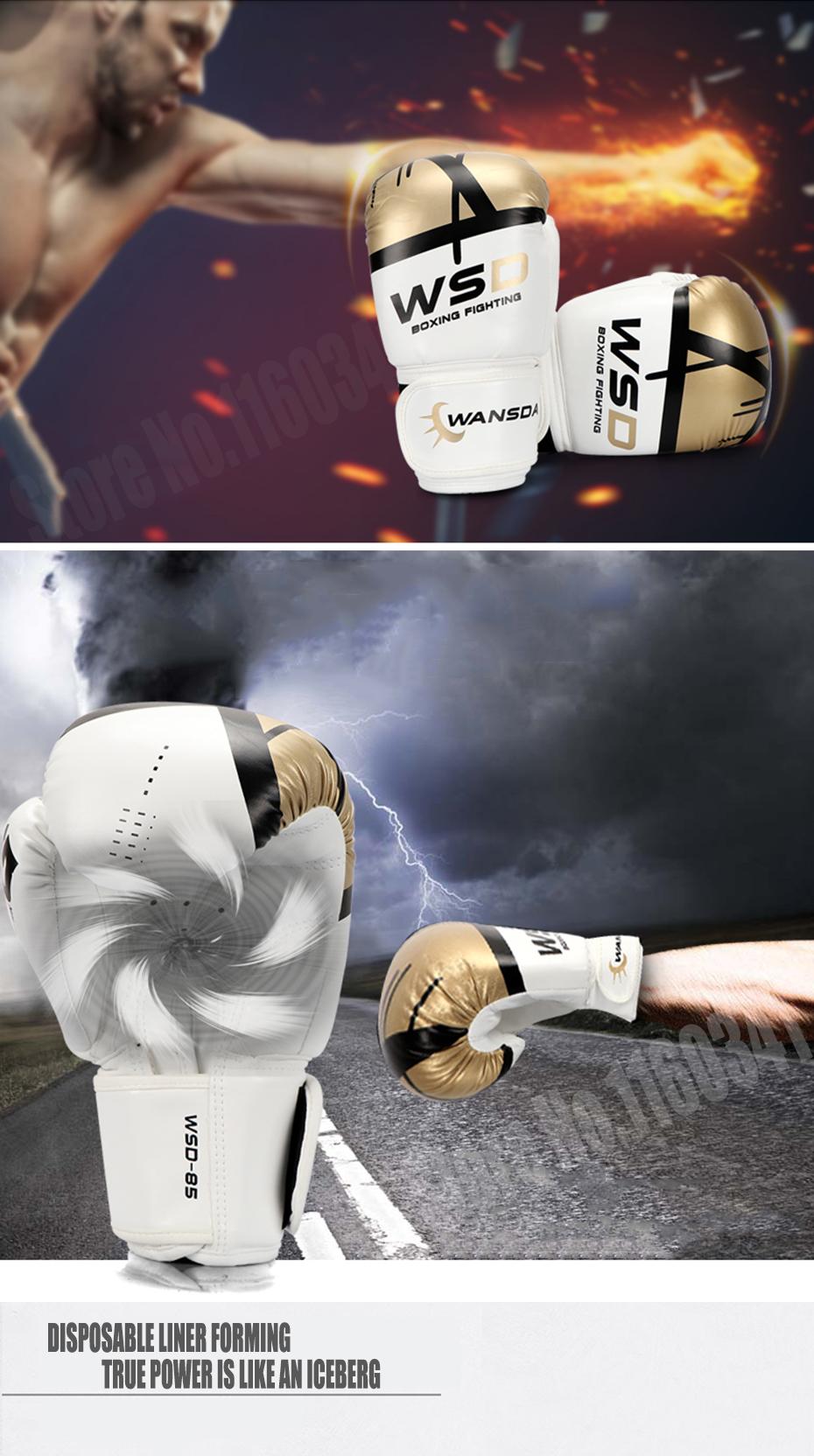 18 New Pink/Gold Men/Women Boxing Fitness Gloves for Sandbag Punch Training MMA Muay Thai Sanda Karate Mitt Equipment 2