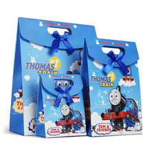 Free Shipping 5 X Thomas Paper Gift Bag Children Birthday Party Supply Gifts Box Party Favor Accessories