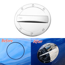 Auto Car Exterior Fuel Gas Door Oil Tank Box Cap Cover Trim ABS Silver Fit For Chevrolet Camaro 2017+ Car Styling Accessories