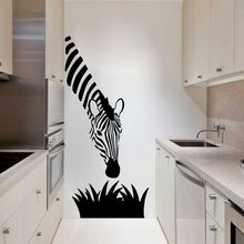 Zebra wall decals modern art decoration for your kitchen bedroom or livingroom , zebra wall stickers art murals(China)