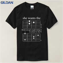 Costume Pictures Cute Sunlight Gildan T Shirt Shop Short Men F Chord Dad Funny Guitar Musician Unisex O-Neck Fashion 2017 Tees(China)