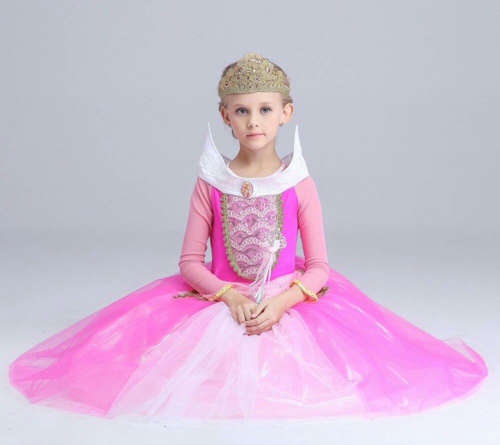 New Dresses Fashion Princess Girls Flower Pink Dress High Quality Girls Princess Costume Party Brand Butterfly Bud Silk Dress 74<br>